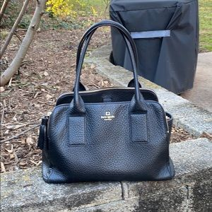 Large Spade Large Black Leather Bag